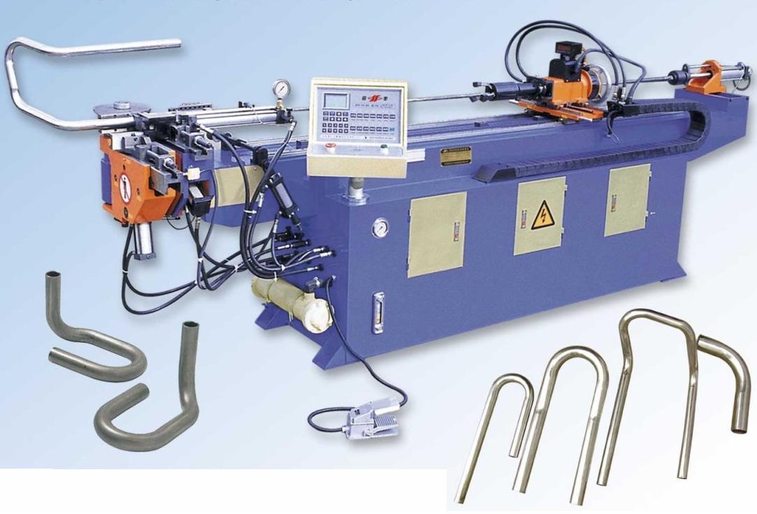 Трубогибочный гидравлический полуавтоматический станок DW 50 NC компании HEFENG